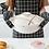 Thumbnail: Găng tay lò nướng chống nóng họa tiết caro (1 cái)