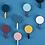 Thumbnail: Bộ 10 móc dán treo đồ phối màu hiện đại - M031-034
