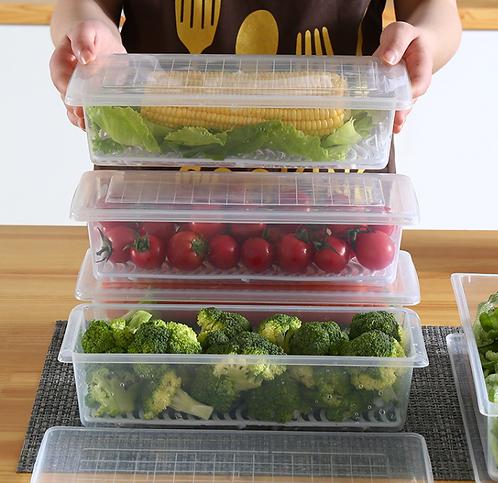 Hộp nhựa thực phẩm kèm lớp lưới tách nước