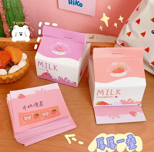 Hộp giấy note bình sữa cute