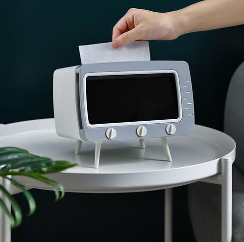 Hộp khăn giấy để bàn tivi để điện thoại (có nhiều màu)
