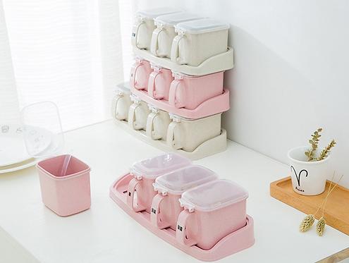 Bộ hộp đựng gia vị nhà bếp - H024-027