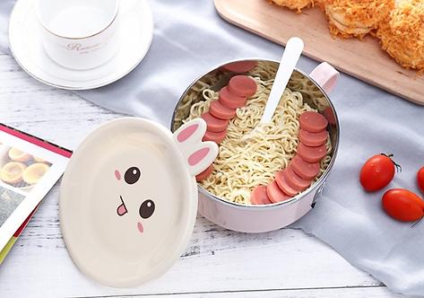Bộ tô ăn mì 2 lớp hoạt hình thỏ Nhật Bản - T005-008
