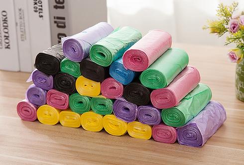 Cuộn 30 túi rác màu - 000437-440
