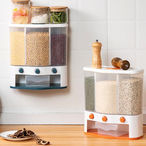 Thùng gạo 3 ngăn tự động 6kg