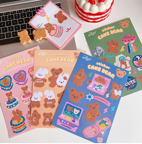 Sticker gấu ngọt ngào