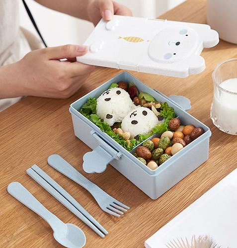 Bộ hộp cơm Bento nhựa lúa mạch - H006&H007