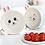 Thumbnail: Bộ tô ăn mì 2 lớp hoạt hình thỏ Nhật Bản - T005-008