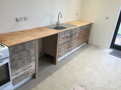 Kitchen made from pallets