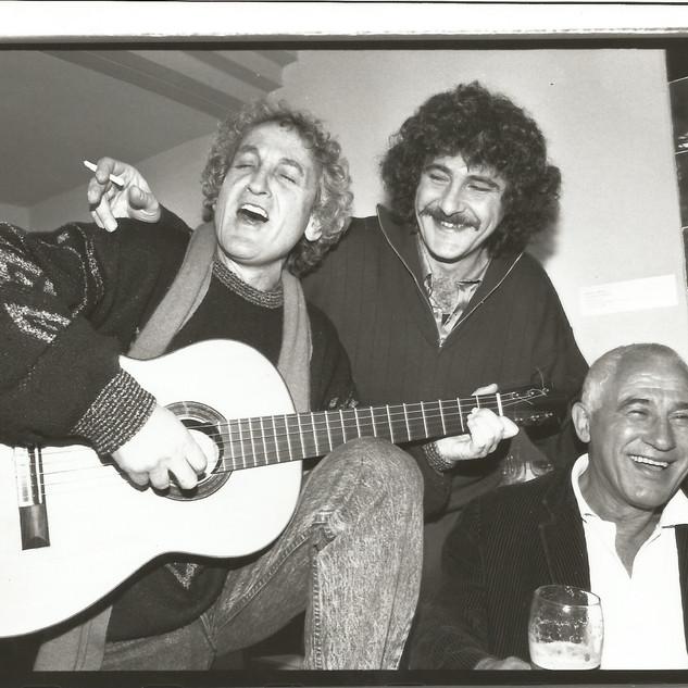 עם בני אמדורסקי וישראל גוריון