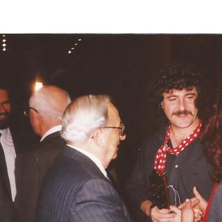 עם יצחק נבון בכנסת 1991