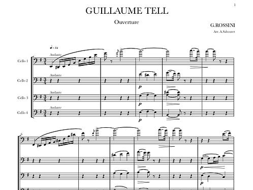 ROSSINI - Ouverture de Guillaume Tell pour Quatre Violoncelles