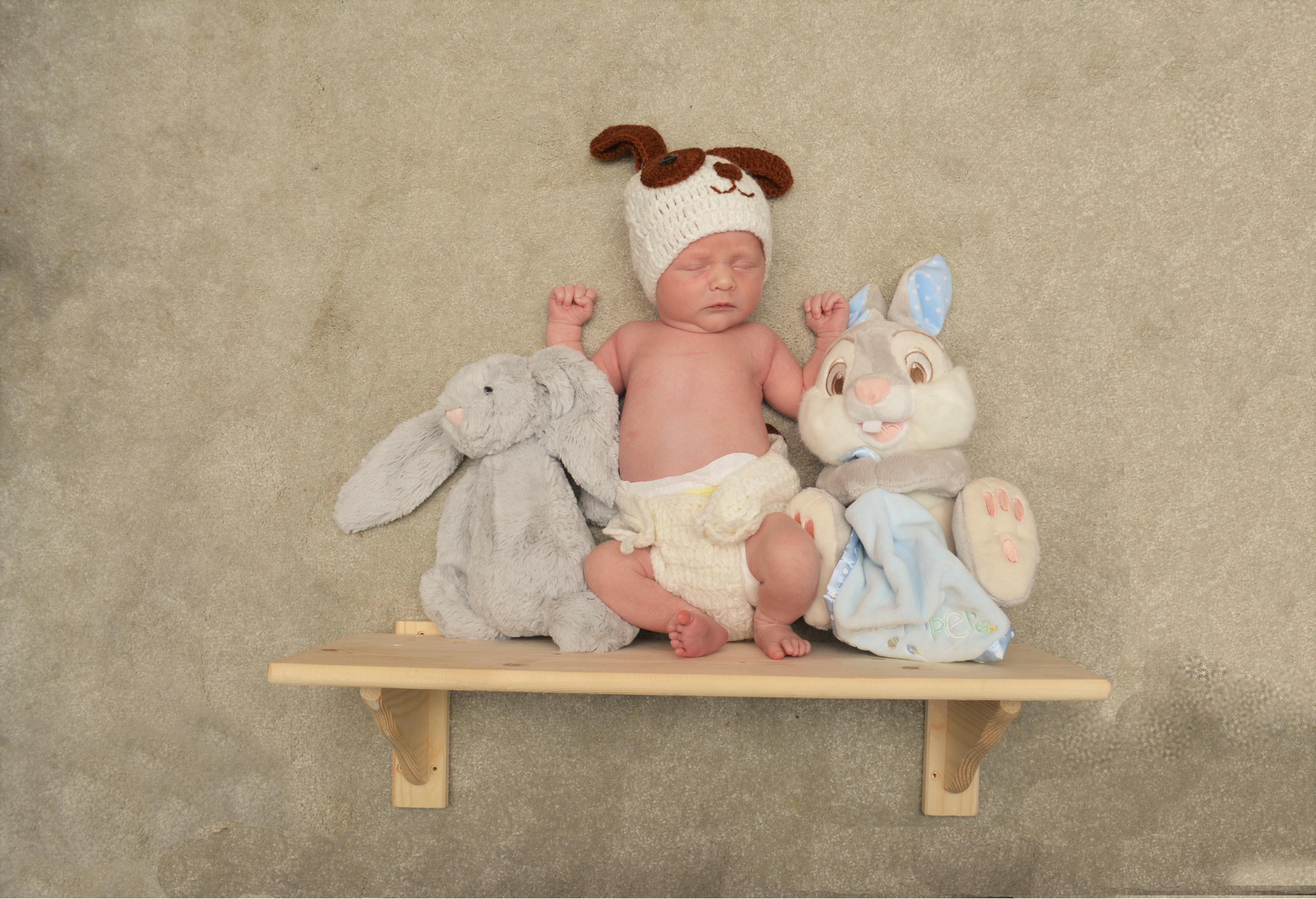 Baby on the shelf