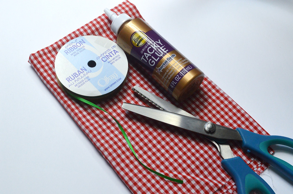 picture of supplies needed to make a jam jar cover