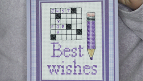 How to make a cross stitch card