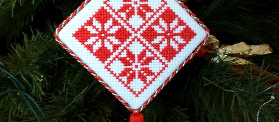 A year of Christmas stitching!