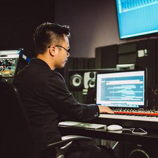 JY at studio