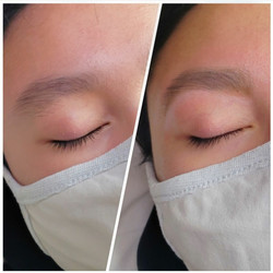 Brow Wax, before and after