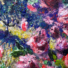 """Detail """"Chasing the Pack."""" Roses"""