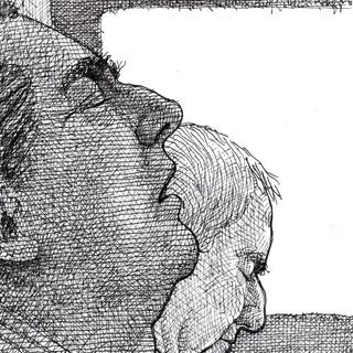 Two sleeping New York City communters