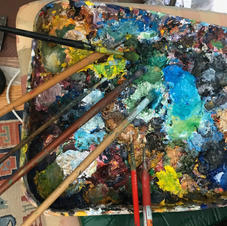 Palette...on old painting roller tray