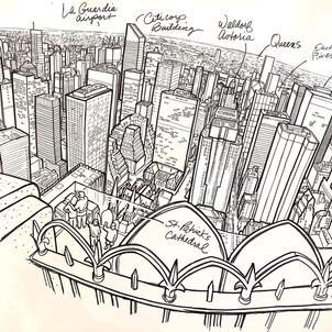 View North from 30 Rockefeller Center bu