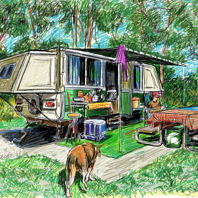 Apache camper drawing