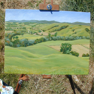 Painting of Tuscan landscape