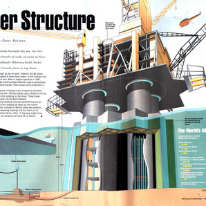 Oil rig drawing in the layout