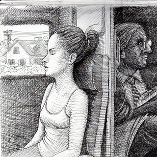 Two New York City rail commuters