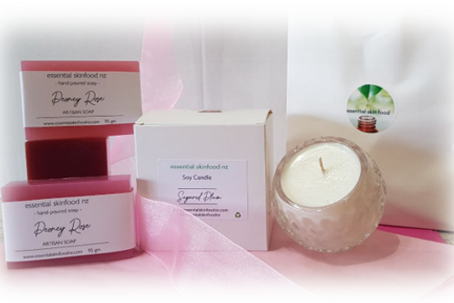 Soy Candle & Artisan Soap Gift Pack