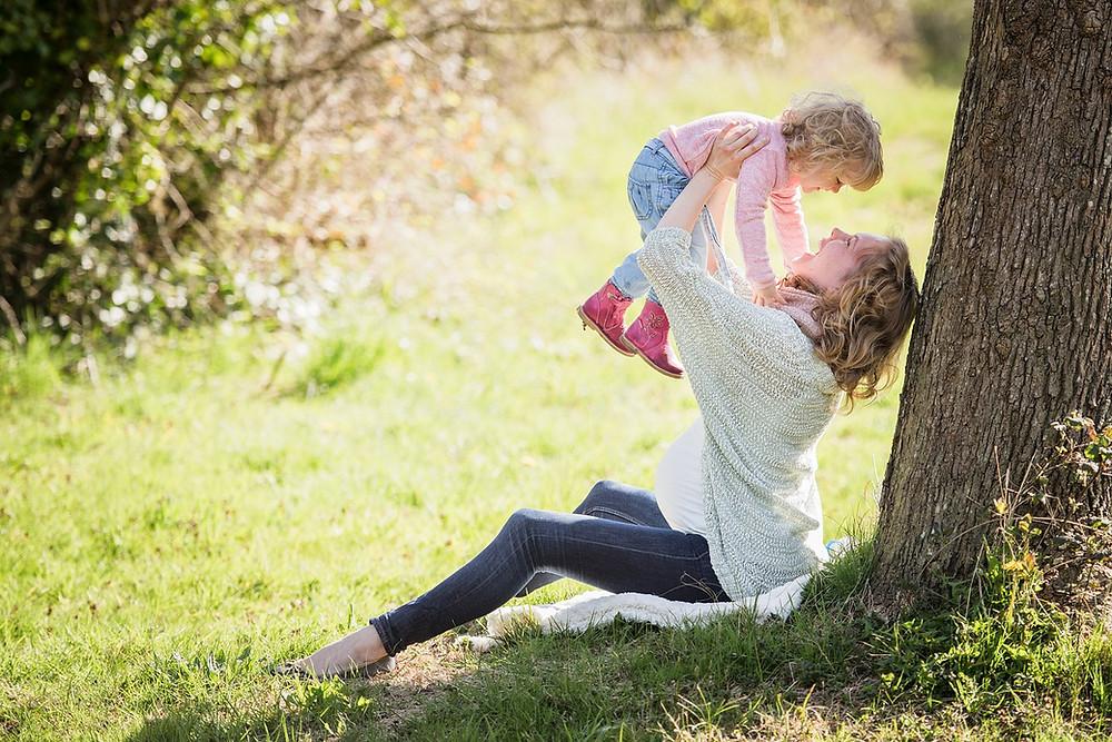 Moeder dochter plezier samen genieten