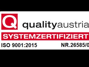 Qualitätsmanagement-Zertifizierung nach ISO 9.001