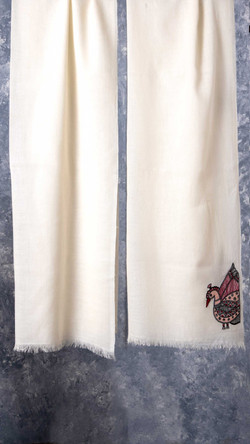Pure Wool Embroidered Scarf