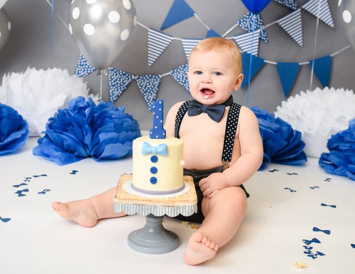 Will's First Birthday Cake Smash