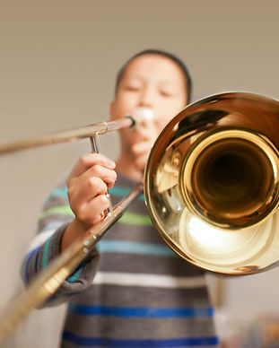 Boy Playing Trombone