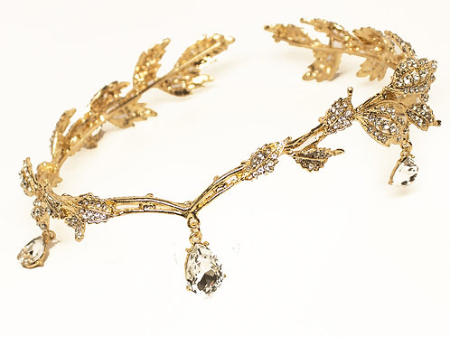 """Agatha"" Greek Goddess Rhinestone Bridal Foreheadband"