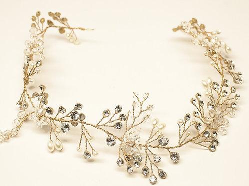 """Shiyani"" Bohemian Inspired Beaded Bridal Vine Headband"