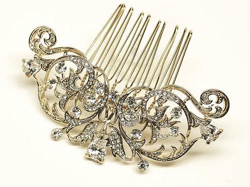 """Isabella"" Vintage Rhinestone Bridal Hair Comb"