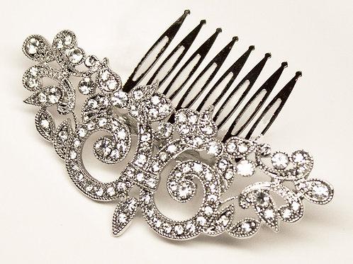 """Beth"" Small Vintage Rhinestone Bridal Hair Comb"