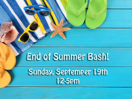 End of Summer Celebration! - Sept. 19th 12-5pm - Free Tacos, Games & Ice Cream