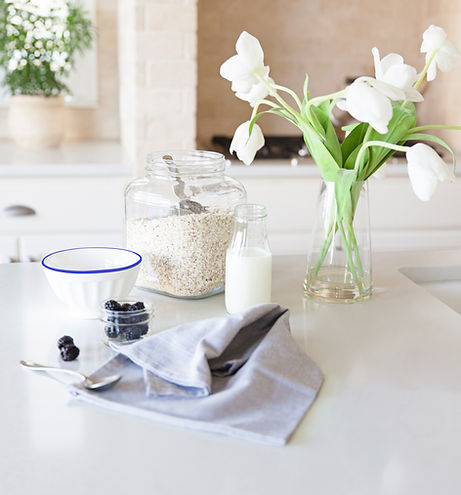 Kitchenware on countertop