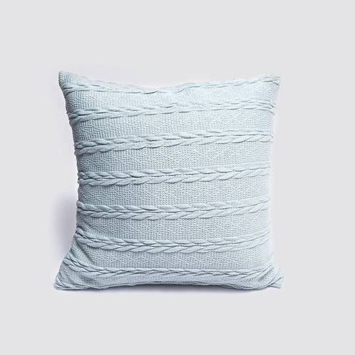 Crochet Cushion - Light Blue