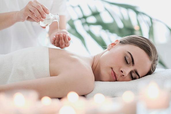 A woman having an aromatherapy massage