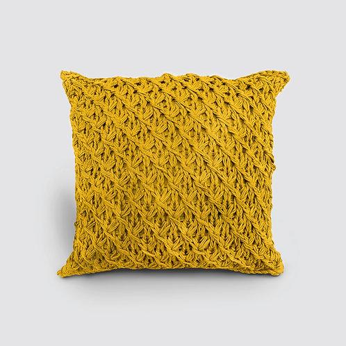 Crochet Cushion - Zen G Yellow