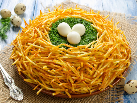 Easter Nests with Potatoes & Eggs