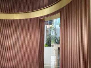 copper slat wall panel