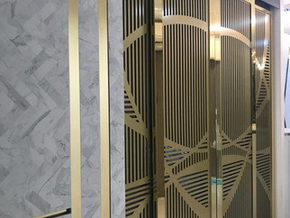 gold colour sliding door