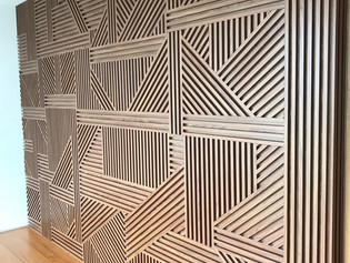 wood feature wall panel design