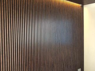wood strip design wall